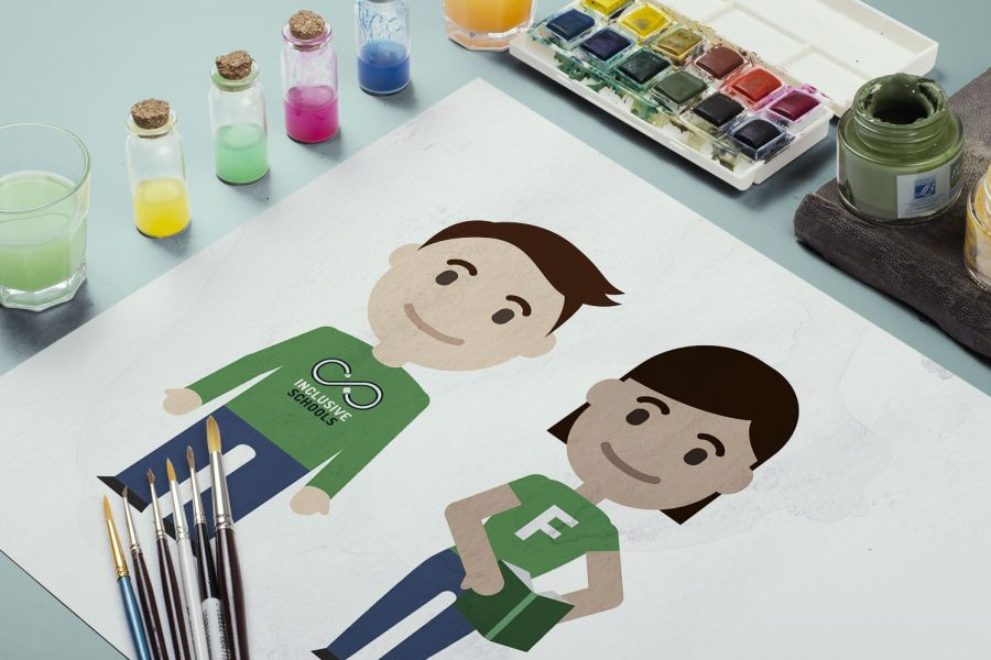 Illustrations vectorielles pour le Inclusive School (COE)